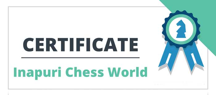 Inapuri chess world tournament cerificate
